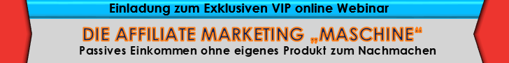 Die Affiliate Marketing Maschine Webinar