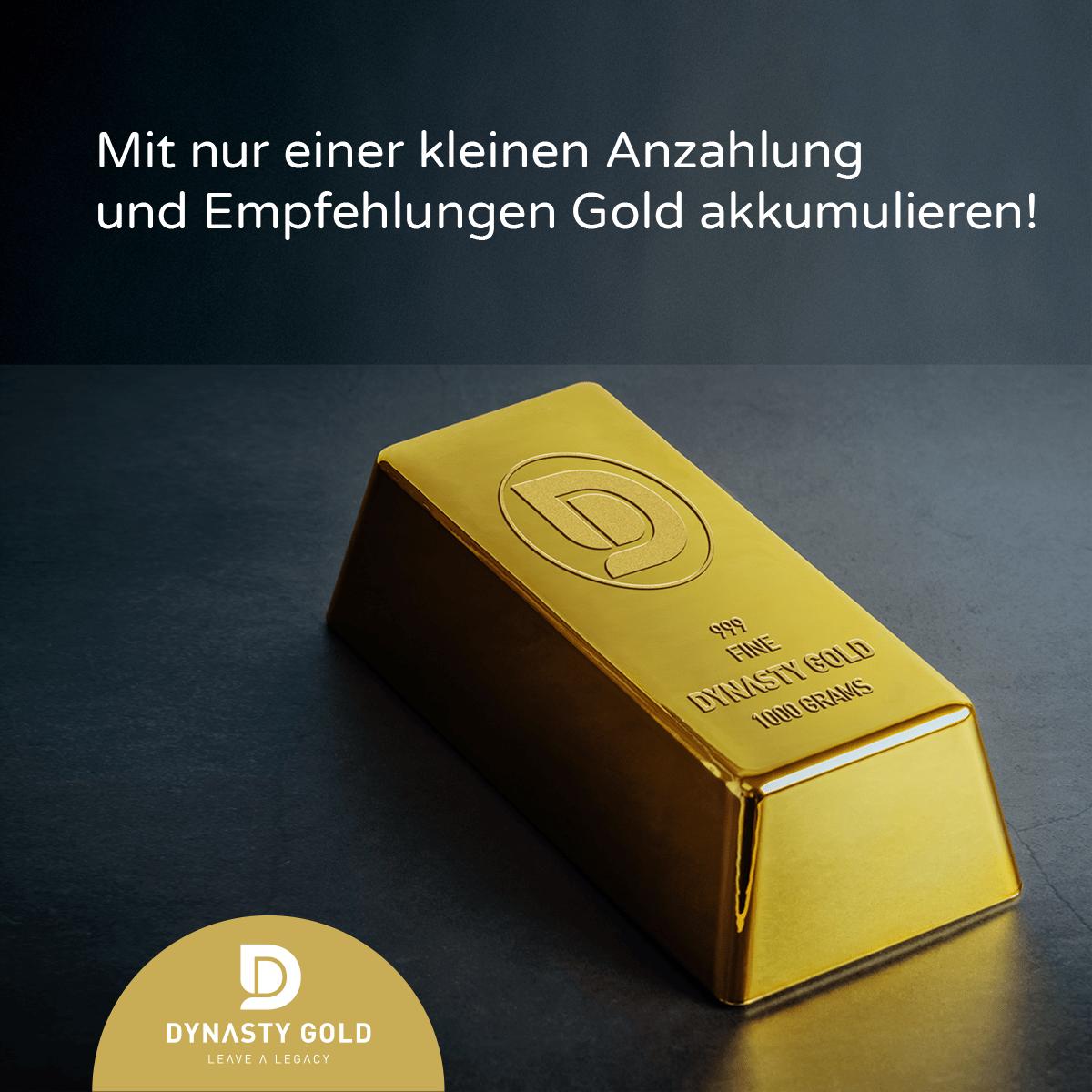 Günstig Gold kaufen bei Dynasty Gold durch Empfehlungen