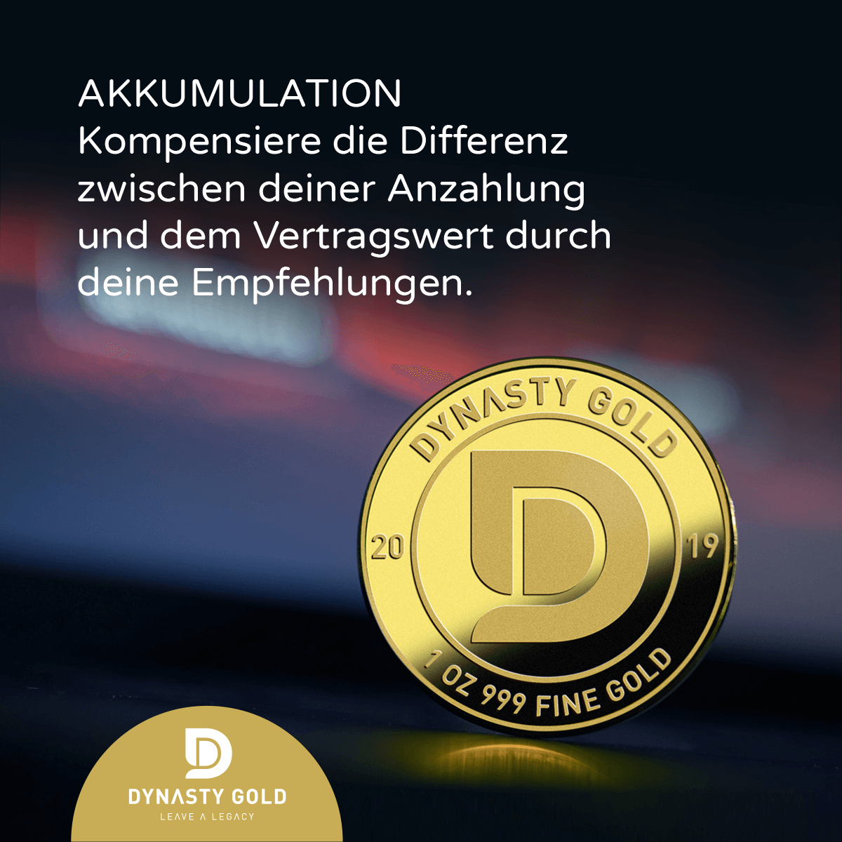 Akkumulationsplan von Dynasty Gold